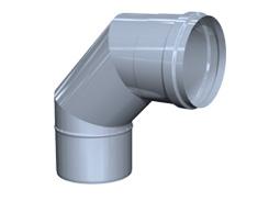 Inox dimnik Koleno za gradnjo dimnika