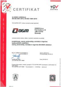 Certifikat OGM
